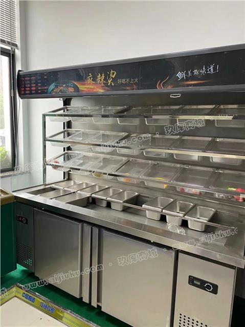 厂家倒闭出售点菜柜,顶开门冷柜,陈列等麻辣烫店设备 需要的联系