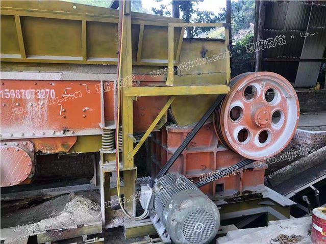 二手砂石料生产线设备58颚式破碎机细颚式破碎机处理