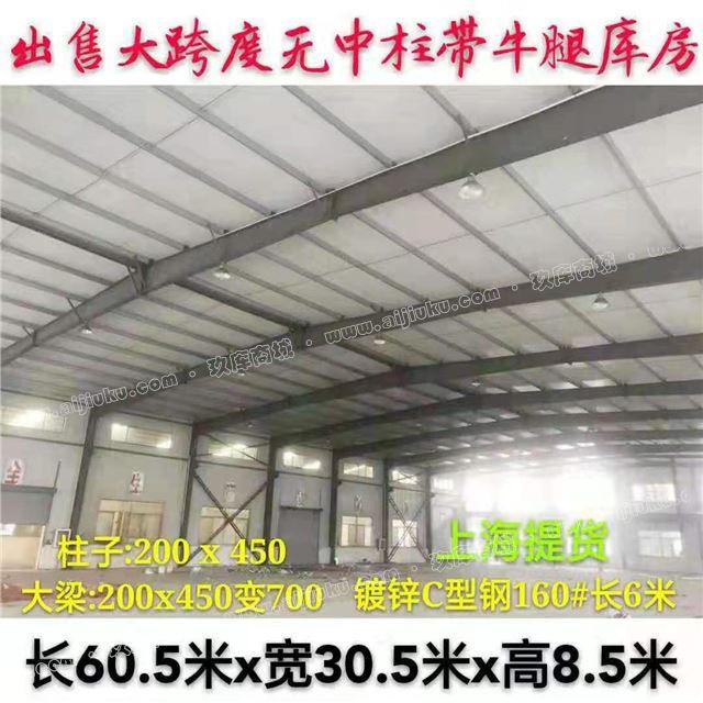 上海鋼結構 寬30.5米x長60.5米x高8.5米 廠房