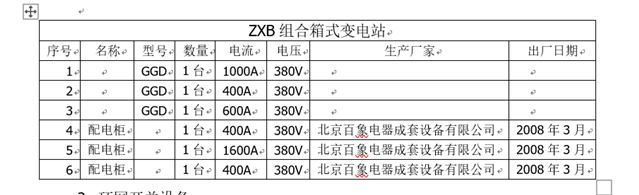 出售二手ZXB组合箱式变电站