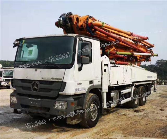 贵州遵义二手泵车 15年中联奔驰49米泵车低价转手