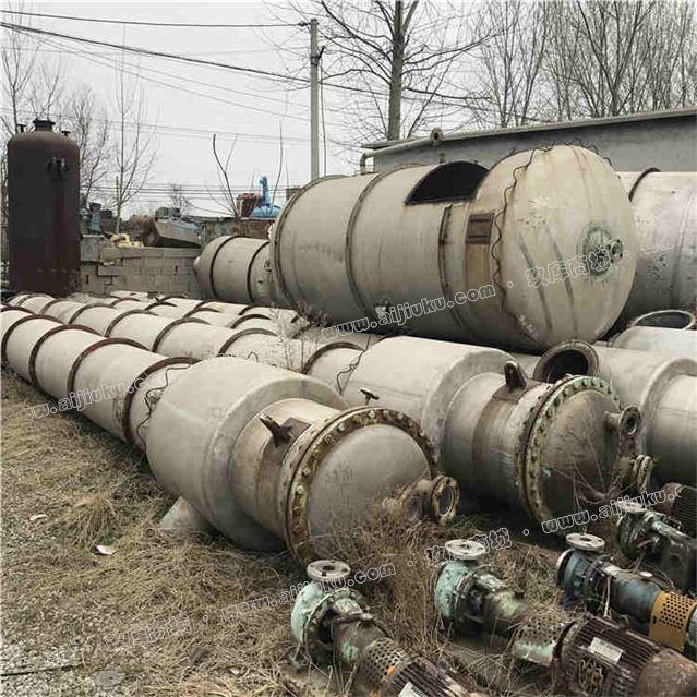 二手三效五体降膜强制循环效四体10吨蒸发器20吨四