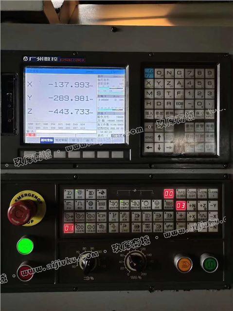 机械厂急售二手宝鸡VMC850L立式加工中心两线一硬