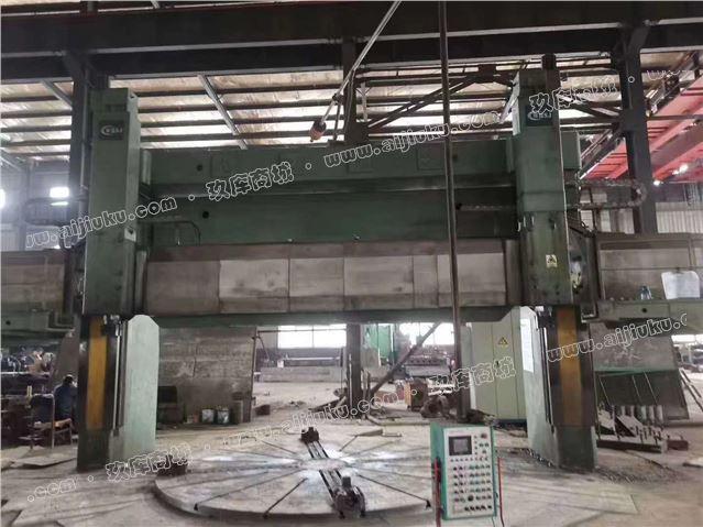 工厂转型出售二手武汉实佳6.3米立式车床