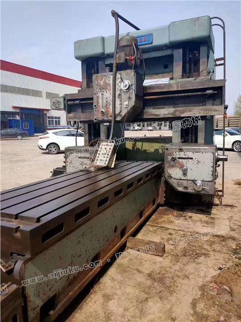 机械厂急售二手天津六机1x3米龙门铣