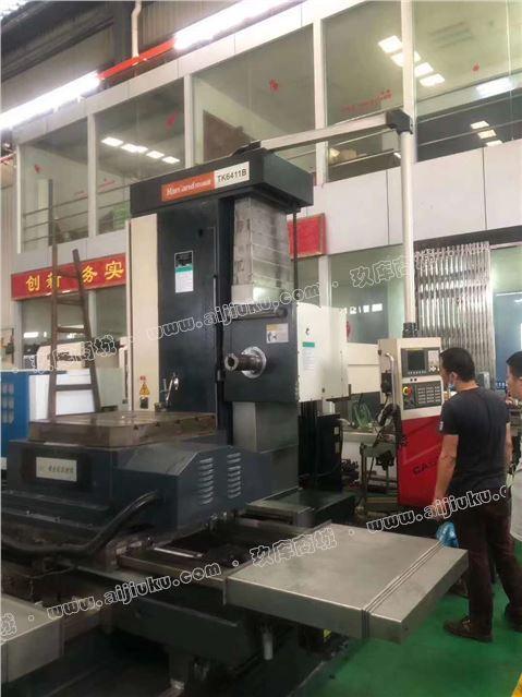 机械厂急售二手汉川TK6411B数控镗发那科MC系统