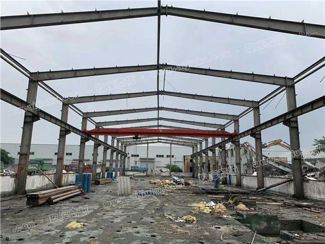 二手精品钢结构:宽30.2m长72.8m高8m柱子450200108梁400-800200106开间